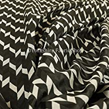 Nuevo ligero chenilla geométrico patrón decoración cortina de tapicería telas negro