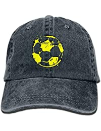 Graffiti Football Unisex Adjustable Baseball Caps Denim Hats Cowboy Sport  Outdoor bda809f6c3e