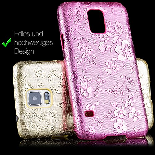 iCues Apple iPhone 6/6S PLUS Chrom Blume Cover - Türkis - Exklusives Design + Displayschutzfolie türkis
