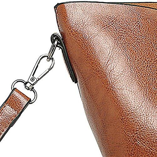 Borsa A Mano Da Donna In Vera Pelle Vintage Tote Bag Tracolla Borsa A Tracolla Borsa Shopper Borsa Rosso Intenso