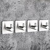 Ankamal Elec Badezimmer Dusche Küche Kein Bohren Keine Schrauben Haken Zum Bohren Wand Self-Adhesive Handtuch Haken Pack von 4