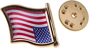 F Fityle Spilla in Metallo Bandiera Italia Francia Germania Cina Spagnola Giappone Australia India America Stati Uniti 2.2x2cm