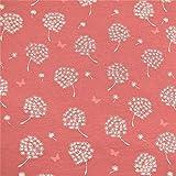 0,5m Sommer-Sweat Pusteblume & Schmetterling pink 5%