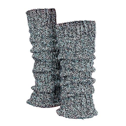 Tobeni 1 Paio di Donna Inverno Scalda i Polsini delle Gambe Scaldamuscoli di Lana Multicolore Colore Multicolore Blu Taglia taglia unica