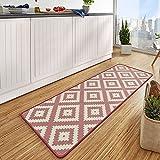 HANSE Home 102674 Teppichläufer, Polyamid, rosa/Creme, 67 x 180 x 0.8 cm