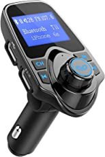 OMORC Bluetooth FM Transmitter Radio Adapter für iPhone Android-Schwarz