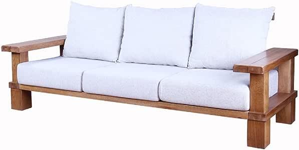 Pure Solid Holz Eiche Sofa/Stoff Sofa Kombination ...