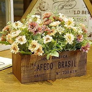 Flores artificiales crisantemo flores de seda Retro Creatividad cercas Flor de emulación Navidad falsos Flores mesa de…
