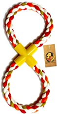 Foodie Puppies Cotton Rope Loop Tug Dog Chew Toy 14 inches - (Color May Vary)