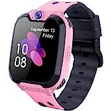 Barnspel smartklocka telefon, Smartwatch för barn flickor och pojkar med spel, HD-pekskärm, SOS-samtal, samtal, väckarklocka,