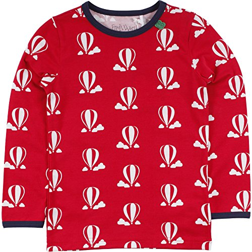 Fred's World by Green Cotton Jungen T-Shirt Balloon T, Rot (Red 019176206), 116
