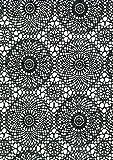 i.stHOME Klebefolie für Möbel Muster Spitzen schwarz weiß Möbelfolie selbstklebend - Selbstklebende Dekorfolie 45x200 cm - Selbstklebefolie Vintage Bastelfolie