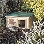 clifford james hedgehog house wooden garden nature hibernation box with waterproof pitched roof CLIFFORD JAMES Hedgehog House Wooden Garden Nature Hibernation Box with Waterproof Pitched Roof 61FMupK wPL
