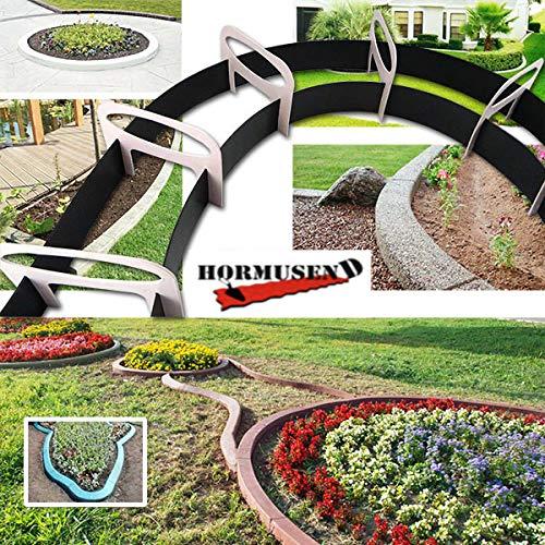 Hormusend Kunststoff-Form für Kantenstein, elastisch, für Terrasse, Garten, Straßenseite, Blumenbeete
