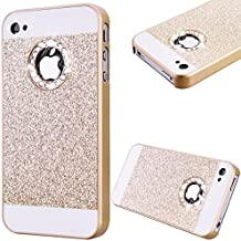 GrandEver Coque Hard PC pour Apple iPhone 4S iPhone 4 Rigide Arrière Glitter Bling Back Cover, iPhone 4G Etui Solide Couleur {d'or} Brillant Housse Plastique Haute qualité Cas de téléphone portable Flexible Couverture Protection Anti Choc Fashion Design Hard Back Couvrir pour iPhone 4S/4