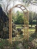 Marko Gardening - Arco da giardino in legno con traliccio pergola per rose, legno di colore naturale immagine