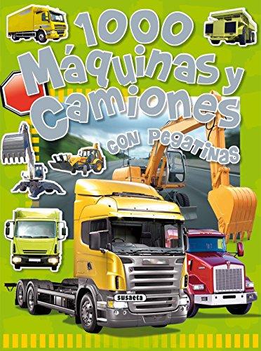 1000 Máquinas y camiones (1000 Pegatinas) por Equipo Susaeta