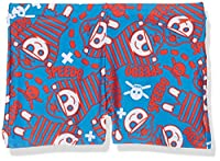 Speedo Boys' Fusion Fun Essential Allover Aquashort, Danube/Risk Red/White, 9-12m