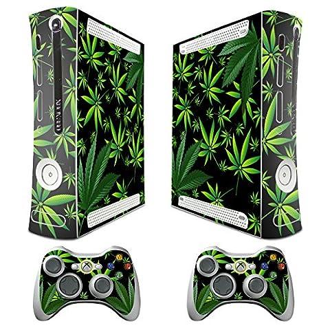 Xbox Autocollant décoratif pour console/système Xbox 360 Slim et manettes Motif plantes Noir