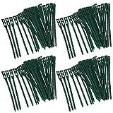 COM-FOUR 160x Pflanzenbinder, grün, 17 cm