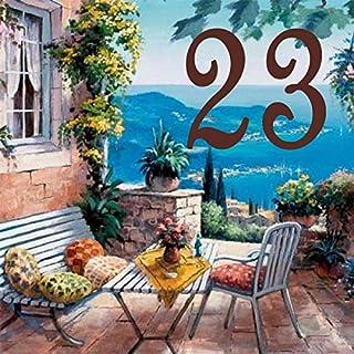 Azul'Decor35 Original Hausnummer maßgeschneiderte Steingut - Wählen Sie Ihre Nummer und die Größe Ihrer Straßenschild!