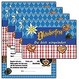 Einladungskarten zum Kindergeburtstag oder für Etwachsene - Oktoberfest - (8 Stück) Einladug Geburtstahseinladung Karten Postkarten mit Text