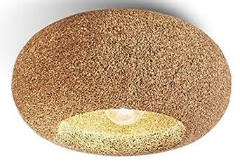 Greencorks, WINERY LAMP da soffitto; 60 X 30 H cm della Collezione LAMP. Lampada in sughero e corpo lampada a led incluso. LAMPADA d'appendere per Interni. Variante in SUGHERO BIONDO.