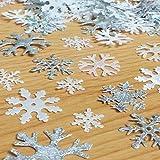 200 mélangées étincelant tissu Noel FLOCON DE NEIGE motifs décoration embellissements