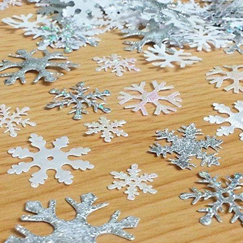 200 Ornamenti di tessuto assortiti a forma di FIOCCO DI NEVE - SNOWFLAKES, per Scrapbooking, Artigianato, Cucito, Creazione di