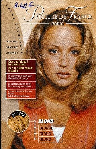 prestige de france crème colorante;blond;extrait de moelle de bambou