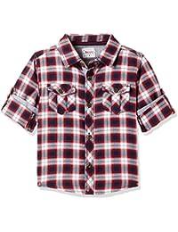 Donuts Baby Boys' Plain Regular Fit Cotton Shirt