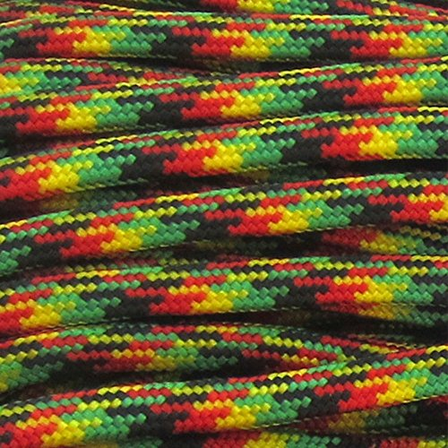 550 Paracord - 550LB 7-Strand Twisted Inner Core Parachute Cord - Over 250+ Color Choices - Multiple Length Options (Hanks & Spool)
