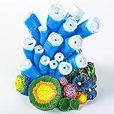 SLSON Adorno de Piedra de Burbujas de Aire para Acuario, Diseño de Estrella de Coral Azul, Bomba de Oxígeno, Manualidades para Decoración de acuarios