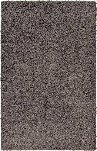 """A2Z RUG ( 160x230 cm (5ft4 x 7ft 8"""") Gris foncé Cosy Shag Collection Solide 5.5 cm Pile Shag Tapis Contemporain Salon et Chambre Soft Shaggy Tapis"""
