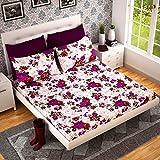 #5: Dream Weaverz Queen Size 5D Printed Bedsheet with 2 Pillow Covers - Designer Print Cotton Bedsheet Set for Elegant Bedding - Multicolored Premium Quality Mattress Sheet