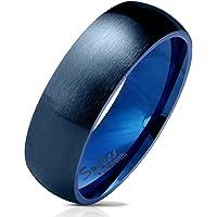 Bungsa Ringe für Damen & Herren - Silber, Rosegold, Gold, Blau, Schwarz - Damenring aus Edelstahl Matt - Edle…