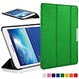 Forefront Cases® Samsung Galaxy Tab 3 Lite 7.0 T110 Hülle Schutzhülle Tasche Bumper Folio Case Cover Stand - Ultra Dünn Leicht mit Rundum-Geräteschutz (GRÜN)