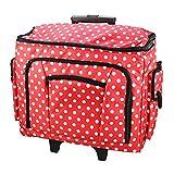 Betulla 006108-red-dot | borsa trolley per macchina da cucire | 47x 38x 24cm