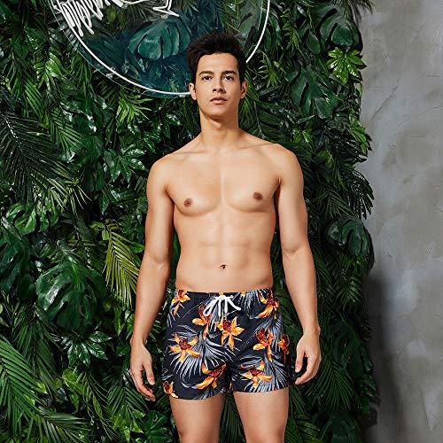Playa Shorts Pantalones Corto,Los Hombres De Patrón De Flores Amarillas Shorts Shorts Surf Beach Inicio...