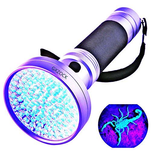 Linterna UV - Linterna UV Negra 100 LED 395 Nm UV Detector Luz para Perro Gato Orina Mascotas Pintalabios Cama Escorpiones Comprobación de fugas Maquinaria