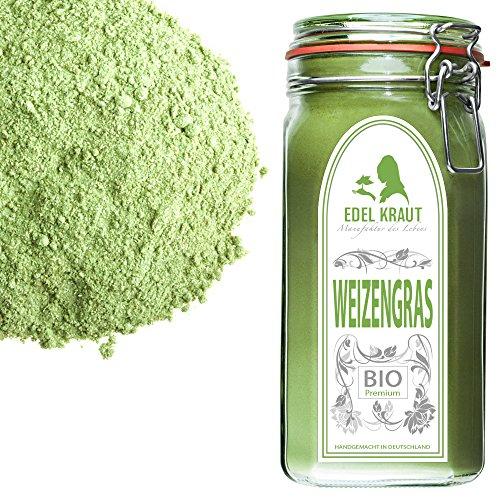EDEL KRAUT | BIO WEIZENGRAS PULVER im Premium Glas - wheat grass powder organic 330g