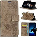 OnePlus 6T Case, Danallc Luxury PU Leather Wallet Flip Protective Flip Case Cover With Card Slots And Stand For OnePlus 6T Khaki