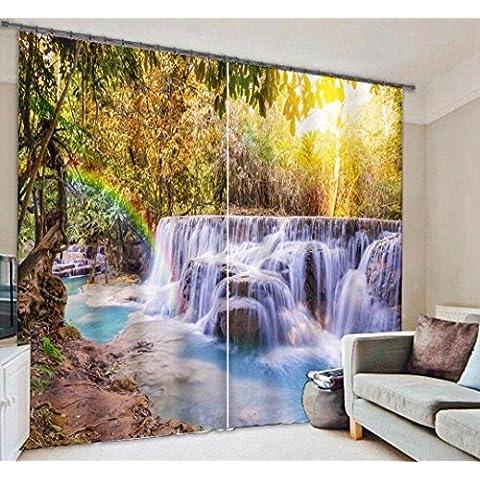 Caldo finestre ombreggiatura acqua arcobaleno decorato tende di lino camera da letto finito 3D , wide 3.2x high 2.7