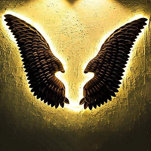 PoJu LED Warm Lights Wing Sculpture Decoración Pared