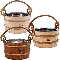 SAWO Sauna Seau en bois avec insert en acier inoxydable; Pin, Aspen ou Cèdre; 2L, 3L ou 5L