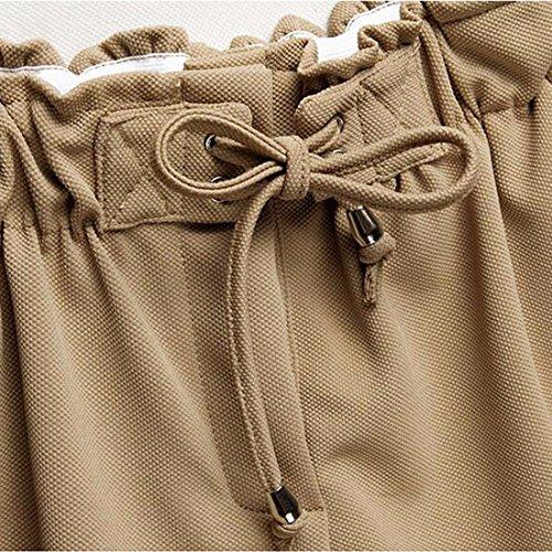 QIYUN.Z Chaussures Élastiques Décontractées Pour Femme Pantalons Athlétiques En Lacet Kaki