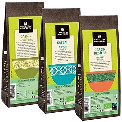 Pack Éco Thé vert Bio aromatisés - 3 x 100g