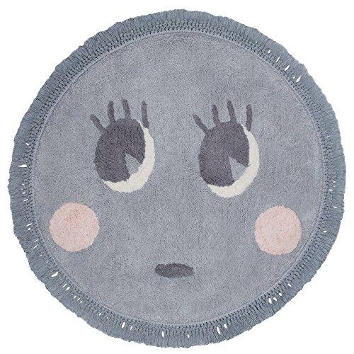Tapis Enfant Nattiot - Rond Molly gris