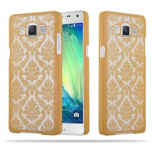 Preisvergleich Produktbild Cadorabo Hülle für Samsung Galaxy A5 2015 (5) - Hülle in Gold – Hardcase Handyhülle im Mandala Design - Schutzhülle Bumper Back Case Cover