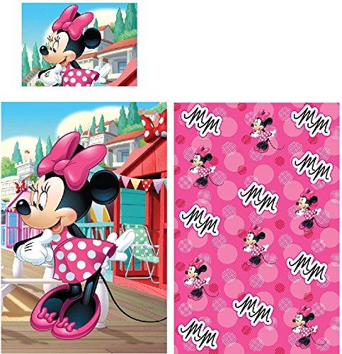 Cactus Clone Housse de Couette Minnie Mouse : 90 x 140 cm/taie d'oreiller 40 x 55 cm Disney 100% Coton